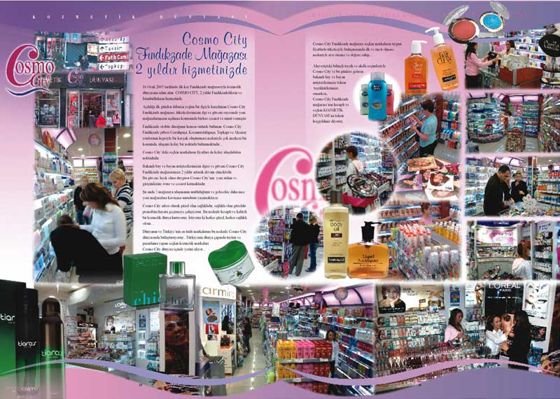 Son yaptığım siteler: Cosmo City - Papilla